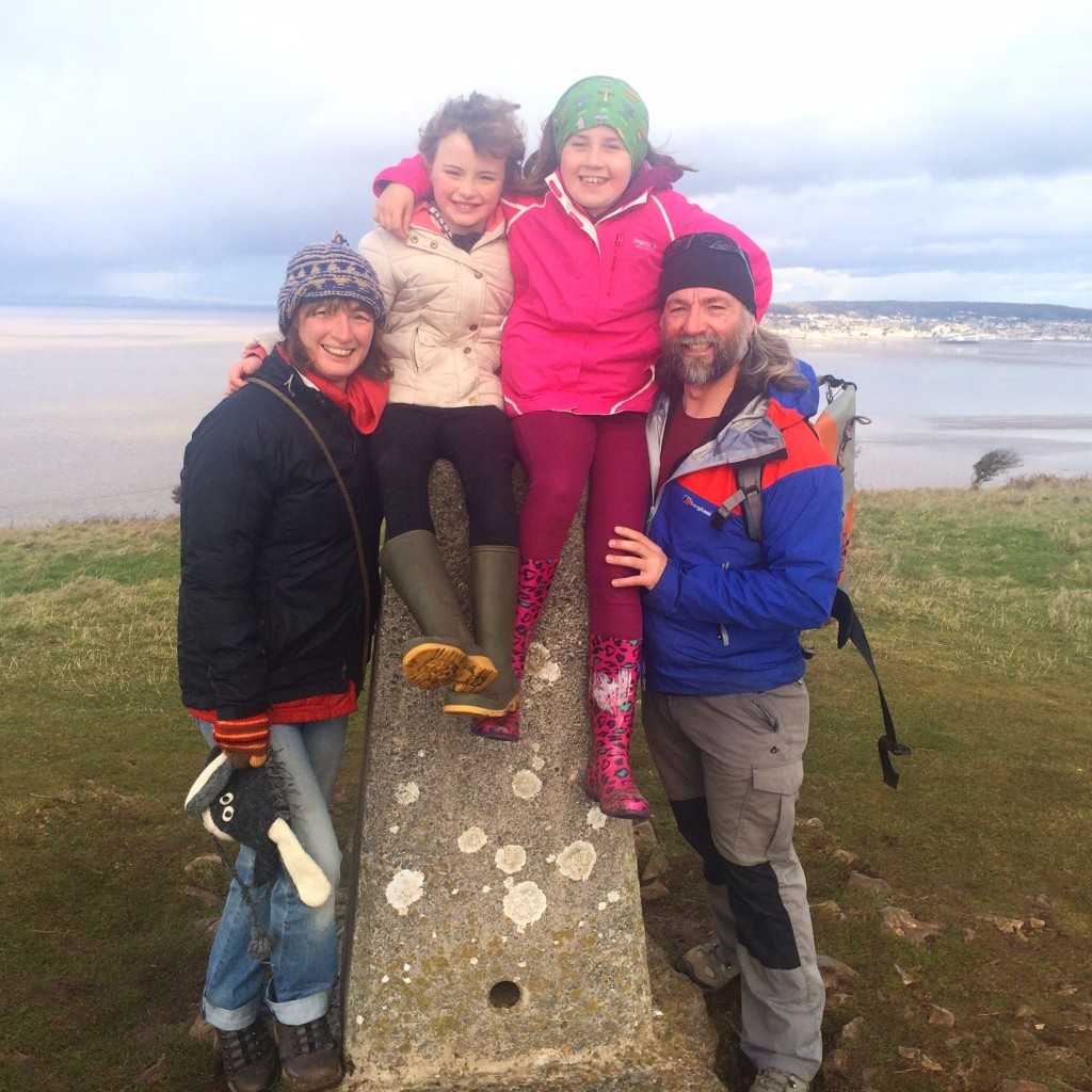 The Family at Brean Down Trig Point