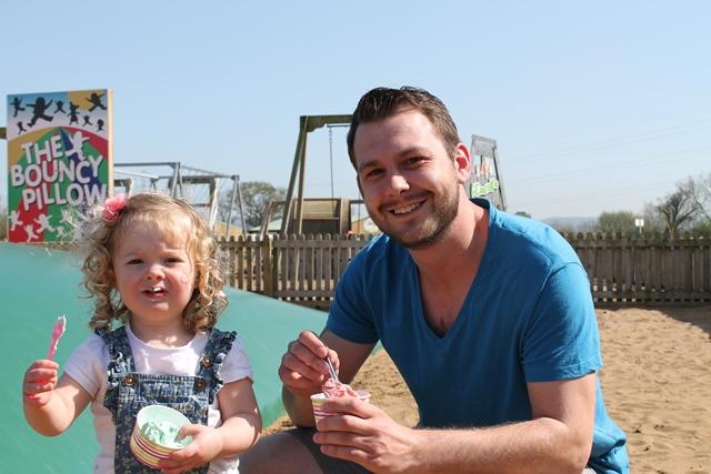 Visitors enjoying Puxton's ice cream