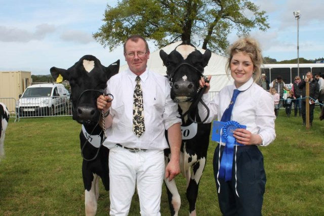 Mike Potter with Reymerr Denise 2, Katie Evans with Willsbro Rose Goldwyn