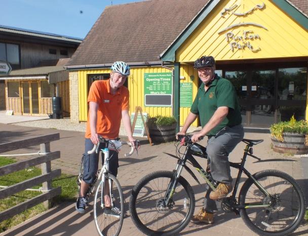 Trevor Gilpin and Ben Lambert gear up for Bike Week