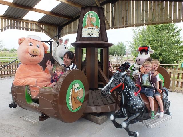 Visitors enjoying new carousel ride