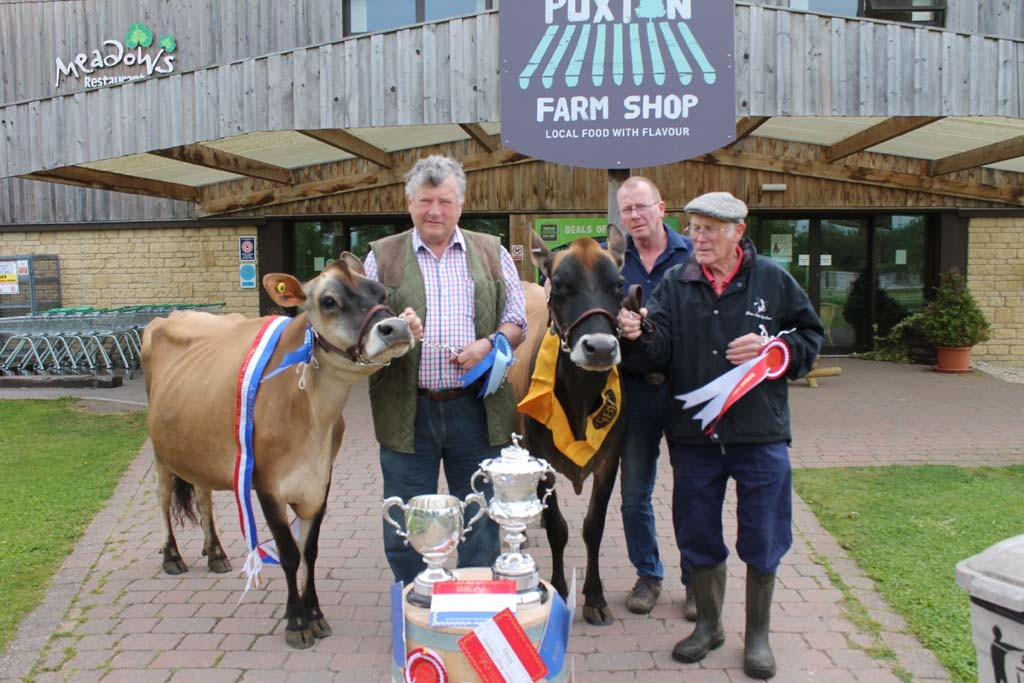Winning Cattle from Bath & West show with Derek Mead, Mike Potter & Alan Green
