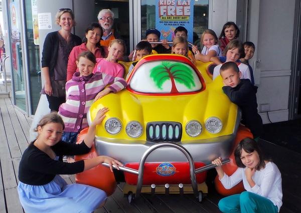 Chernobyl children visiting Grand Pier rides