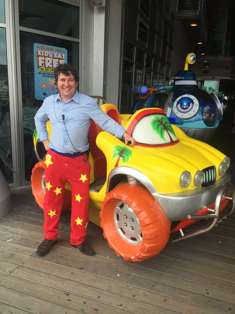 Paul Charalambous at Wrong Trousers Day