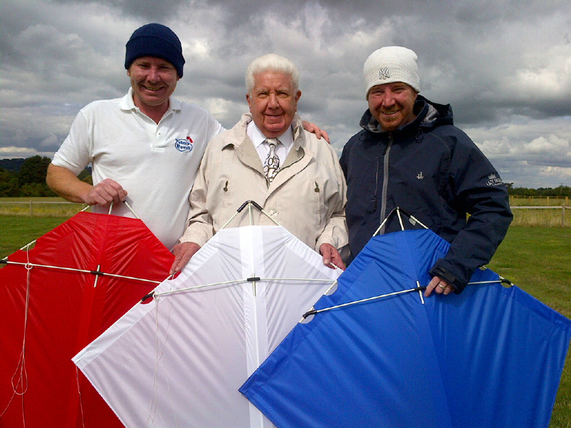 Mark Peter and Paul Powell with MK3 Stunter Kites