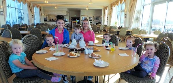 Little Starz nursery enjoying Macmillan coffee morning