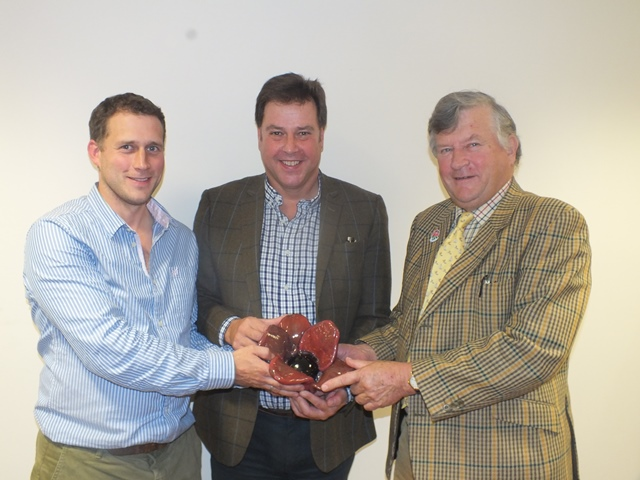 David Plaister collecting poppy from Alistair & Derek Mead - Copy
