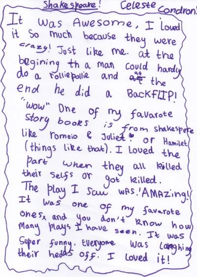 Shakespeare Celeste