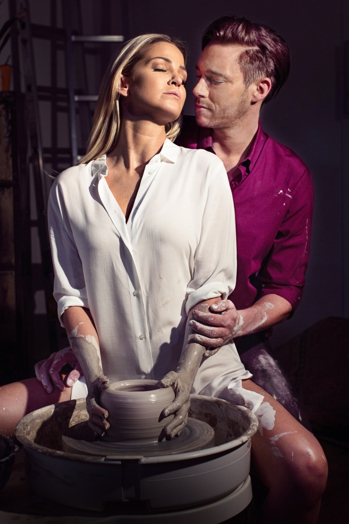 Ghost The Musical UK Tour - Sarah Harding as Molly and Andy Moss as Sam - credit Darren Bell