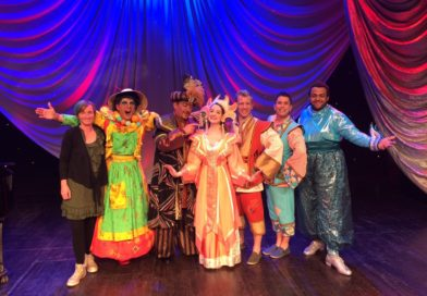 Weston-super-Mum meets the cast of Aladdin at the Playhouse, Weston